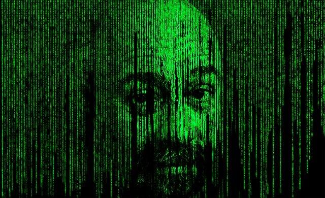 hlava v binárních kódech