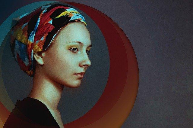 šátek na hlavě