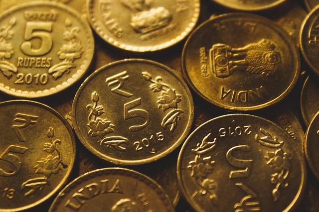 indické rupie, mince
